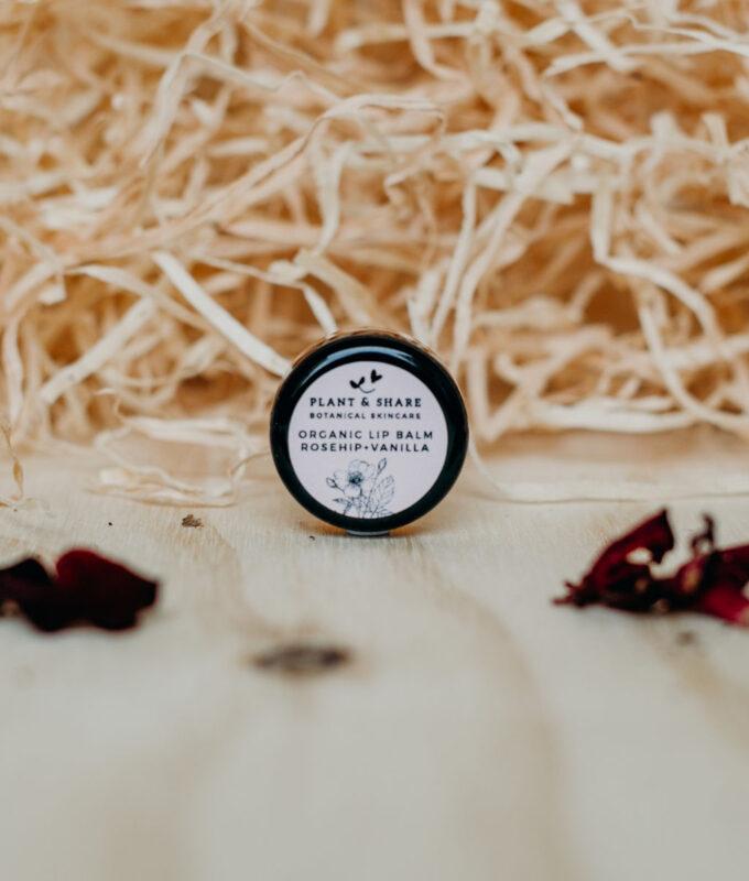 Rosehip and vanilla lip balm