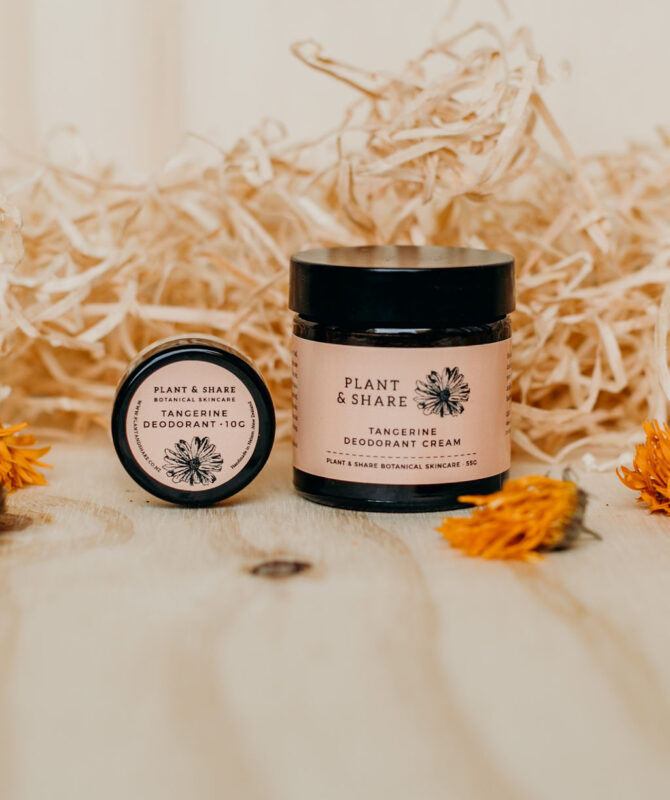 Tangerine Deodorant - Natural Deodrant Creams