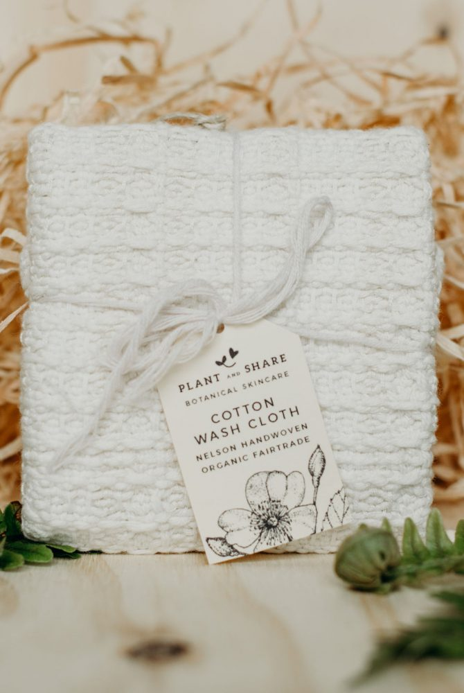 ORGANIC COTTON FACE CLOTH – CREAM