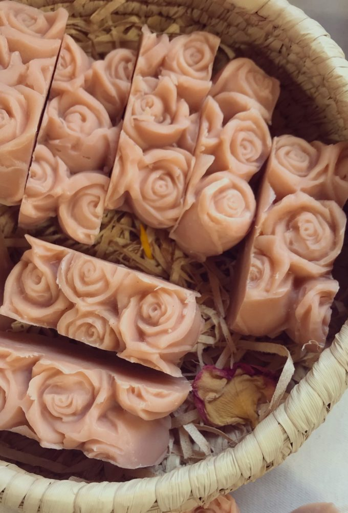 rosehip and shea mini organic soaps