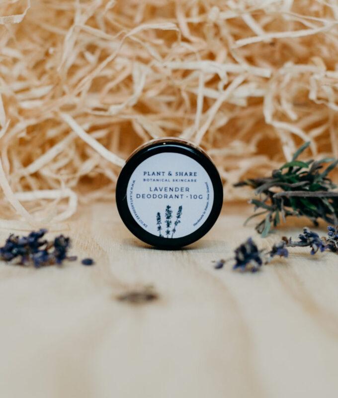 lavender deodorant sample pot - natural deodrants range