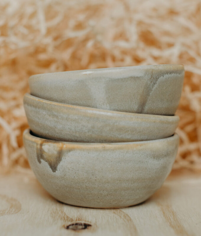 Handcrafted clay bowl for mixing clay masks
