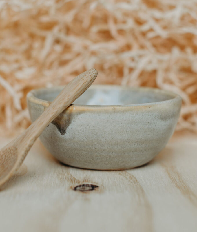 Handcrafted clay mask mixing bowl